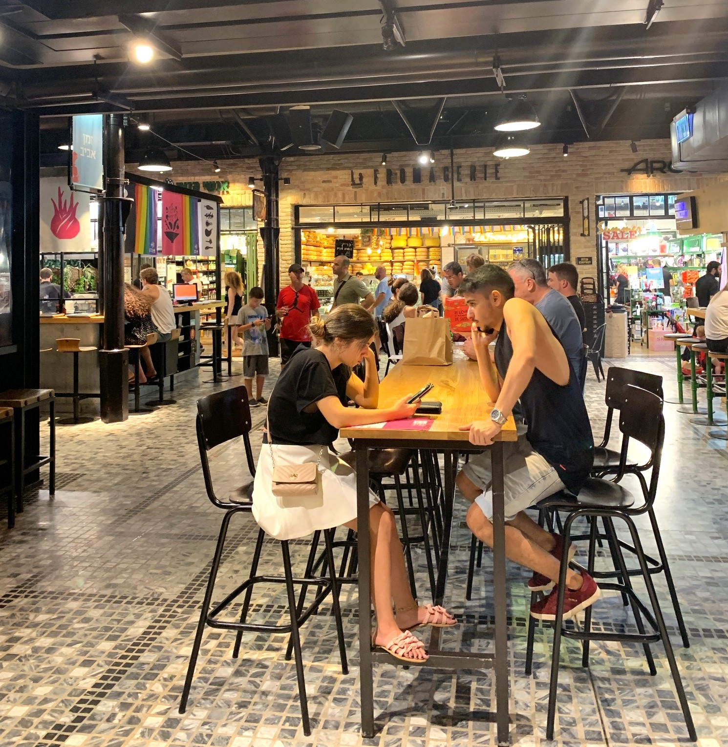 Sarona Market food court